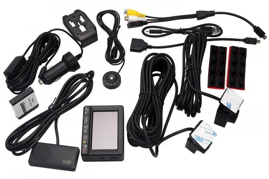 """Duální palubní kamera K1S - FHD, WDR, 2,7"""" LCD"""