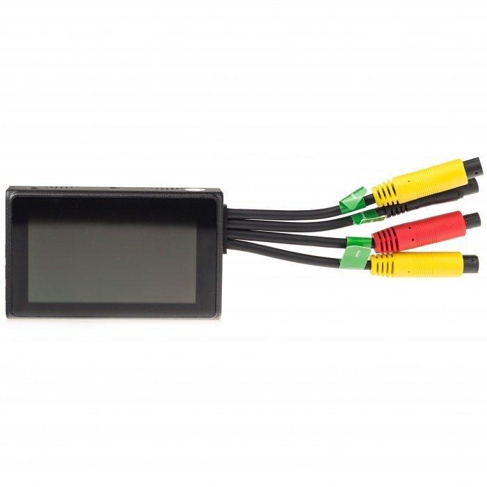 Full HD kamerový systém Secutek X2 do auta či motocyklu - 2 kamery, LCD monitor