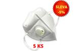 Respirátor s výdechovým ventilem KN95 - SADA 5 KS