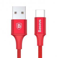 KB05 LED Light Micro USB-C kabel, Červená, 25cm Červená 25cm