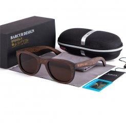 Dřeveněné brýle polarizační Retro style BCR05 Hnědá