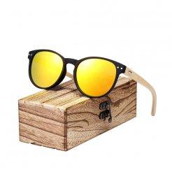 Dřeveněné brýle Vintage Round BCR06 Oranžová