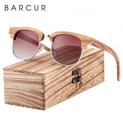 Dřeveněné brýle polarizační Oculos de sol feminino BCR08 Šedá