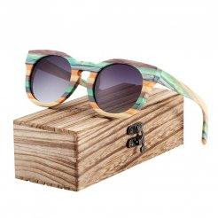 Dřevěněné brýle polarizační Lunette de soleil homme BCR09 Šedá