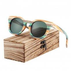 Dřevěněné brýle polarizační Lunette de soleil homme BCR09 Černá