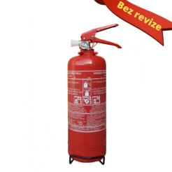 Práškový hasicí přístroj do auta 2 kg P2 ČE - BEZ REVIZE