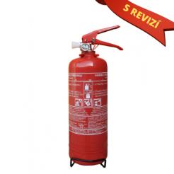 Práškový hasicí přístroj do auta 2 kg P2 ČE + REVIZE