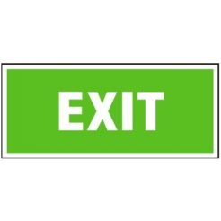 Exit | plastová cedule, 200x87mm