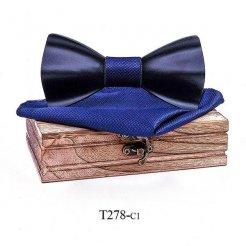 Mahoosive Dřevěný motýlek s kapesníčkem T278