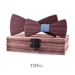 Mahoosive Dřevěný motýlek kombo T325