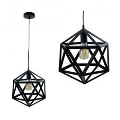 Průmyslová závěsná lampa Loft E27 - černá