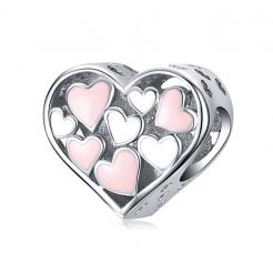 Bamoer stříbrný přívěsek Nevinné srdce