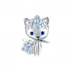 Bamoer stříbrný přívěsek Kočičí Elf