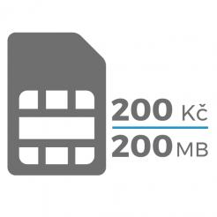 SIM karta (200,-Kč / 200 MB)