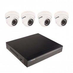 8MP kamerový set se 4K záznamem Secutek SLG-NVR3604CDP1S800 - 4x 8MP dome kamera, NVR