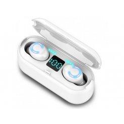 Bluetooth TWS sluchátka F9-5C - Bílé