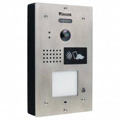 Kovový videozvonek Secutek SPL-111K-1 s RFID čtečkou