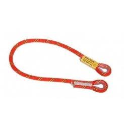 Bezpečnostní lano s oky - 100 cm, oranžové