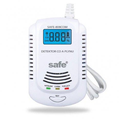 2 v 1 kombinovaný detektor CO, hořlavých a výbušných plynů s LCD displejem a systémem hlasového varování v českém jazyce SAFE 808COM