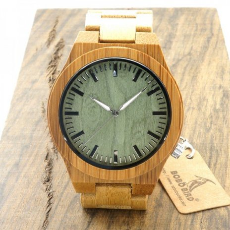 Dřevěné hodinky BOBO BIRD M006