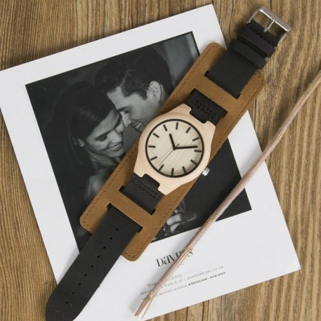 Dřevěné hodinky BOBO BIRD Chicago II - javorové dřevo