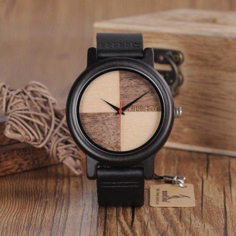 Dřevěné hodinky BOBO BIRD WN08