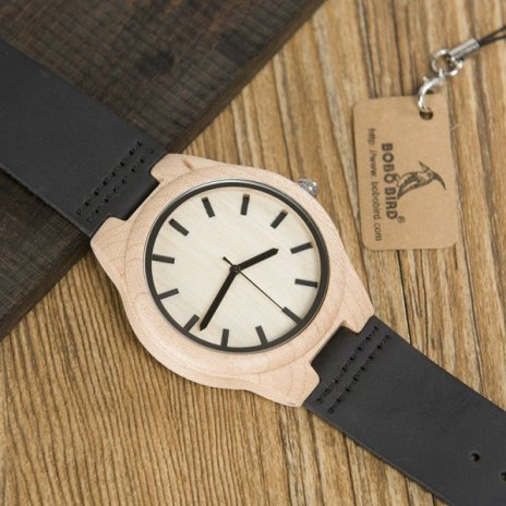 Dřevěné hodinky BOBO BIRD WF21