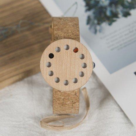 Dřevěné hodinky BOBO BIRD WC12 - korkový pásek