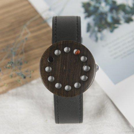 Dřevěné hodinky BOBO BIRD WC12 - černé