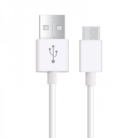KB11 USB-C datový kabel bílý, Bílá, 1m