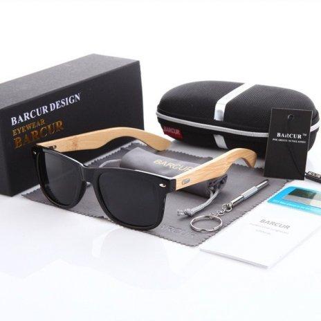 Dřevěné brýle polarizační Oculos de sol masculino BCR01