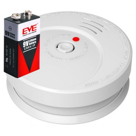 Požární hlásič a detektor kouře GS506, včetně baterie s životností 10 let