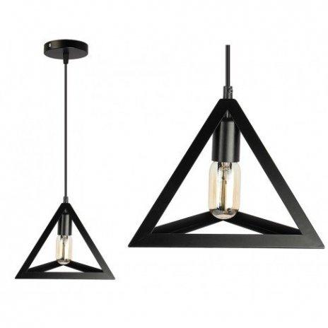 Loftová průmyslová závěsná lampa E27 - černá