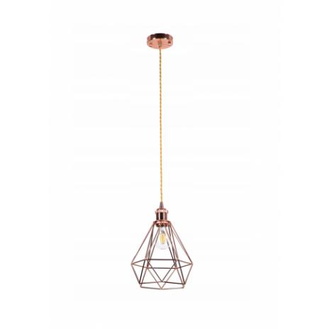 Závěsné stropní svítidlo Diamond - růžová