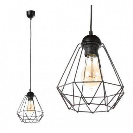 Závěsná lampa Diamond Slim - černá