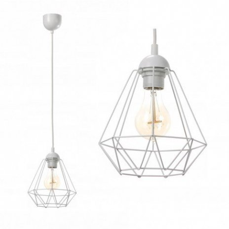 Závěsná lampa Diamond Slim - bílá