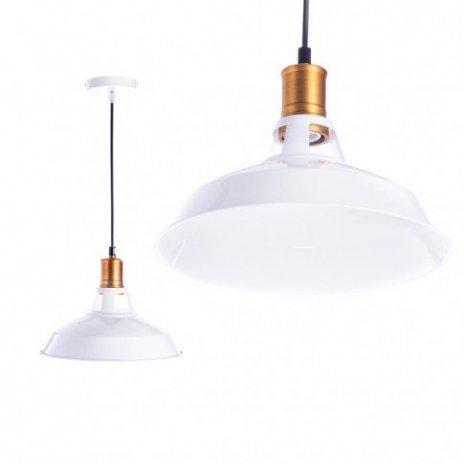 Závěsná lampa Retro Edison - bílá