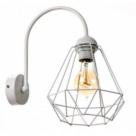 Nástěnná lampa Diamond Slim - bílá