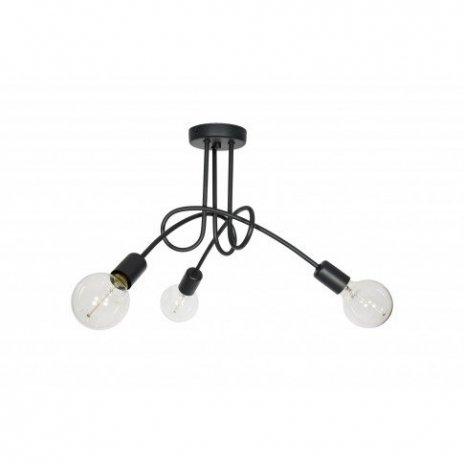 Závěsná lampa Edison Loft - černá