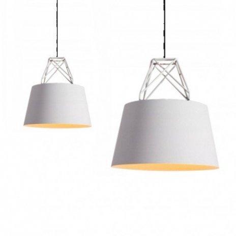 Závěsná stropní lampa Doodie - bílá