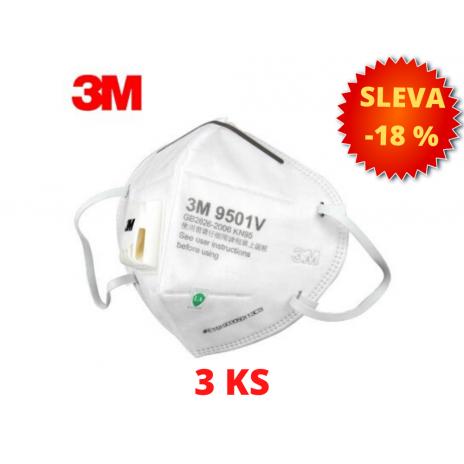 3M Respirátor 9501V s výdechovým ventilem KN95 - 3 KS