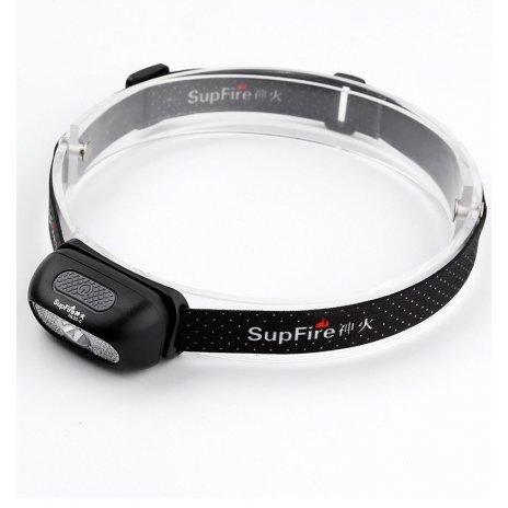 Supfire LED čelovka Jing Rui XD LED 100lm, USB, Li-ion