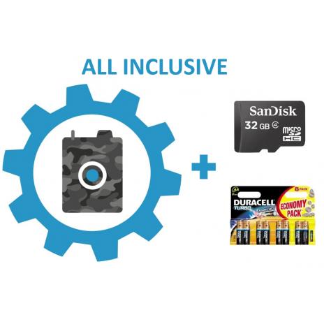 Nastavení fotopasti + 32GB SD karta + baterie