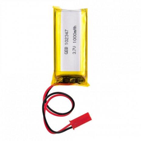 3.7V 1000mAh dobíjecí lithiová baterie