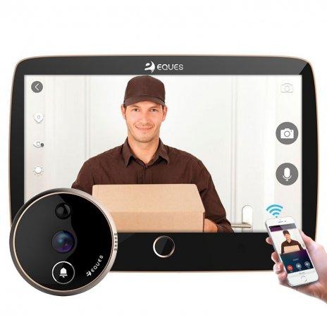 Digitální dveřní Wi-Fi kukátko Eques VEIU Pro