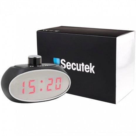 Digitální hodiny se skrytou otáčivou Wi-Fi kamerou Secutek SAH-IP010