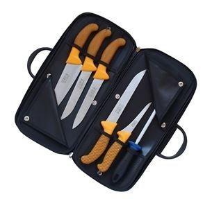 KDS Kabela s řeznickými noži Profi Line (žlutá)