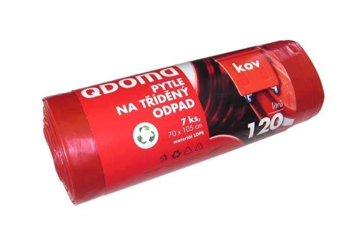 Pytle do odpadkových košů LD120l/7ks KOVY červená