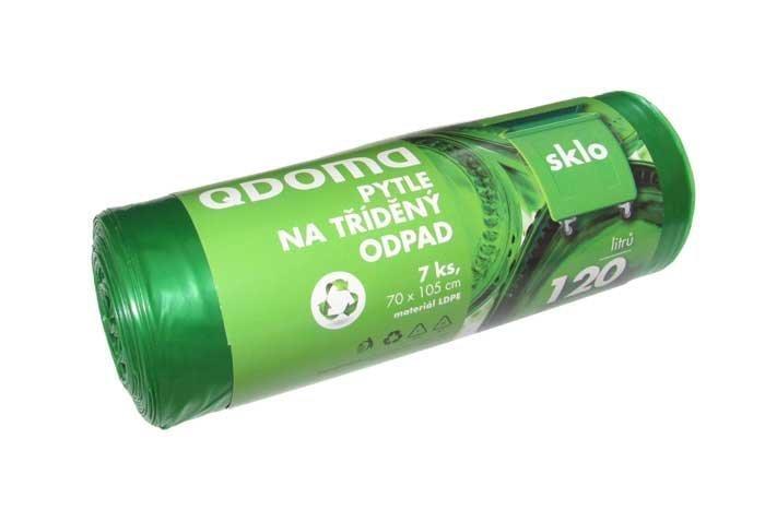 Pytle do odpadkových košů LD120l/7ks SKLO zelená