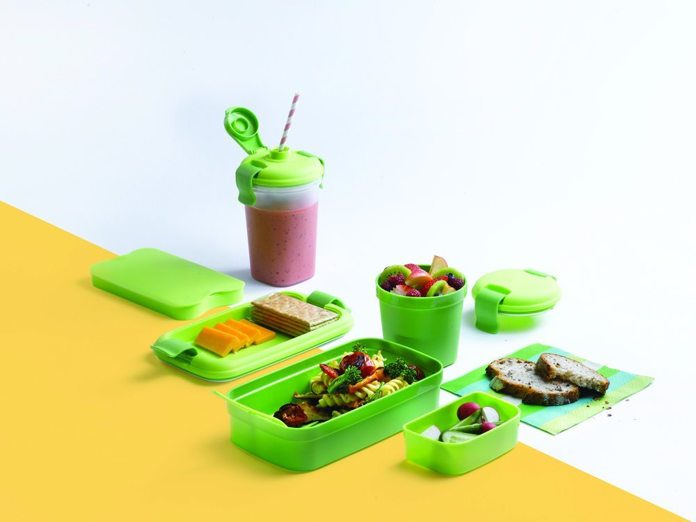 LUNCH & GO box - zelený